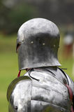 Knight in shining armour. Vertical royalty free stock photo