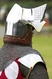 Knight in shining armour. Vertical royalty free stock image