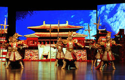 """Knight in shining armour-Large scale scenarios show"""" The road legend"""". The drama about a Han Princess and king of Tibet Song Xan Gan Bbu and the story Royalty Free Stock Photography"""
