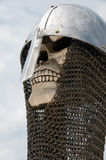Knight skull helmet and chainmail Stock Photography