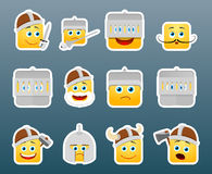 Knight smile stickers set Royalty Free Stock Photography