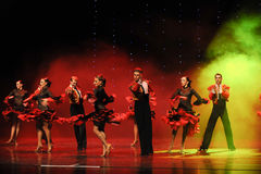 The knight spirit-Spanish flamenco-the Austria's world Dance Stock Photos