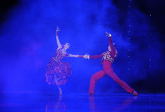 The knight spirit-Spanish flamenco-the Austria's world Dance Stock Images