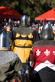 Knight Squad. Knights Stand Up At The Kings Tournament To Battle For The Right To Be In The Elite Knight Squadron Stock Photography