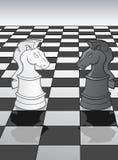 Knight standoff - a metaphor Royalty Free Stock Photos