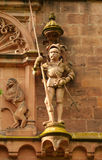 Knight statue, Heidelberger Castle, Germany Stock Images