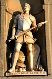 Knight statue in Italy Stock Images