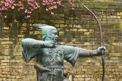 Robin Hood. Statue of Robin Hood in Nottingham, UK stock image