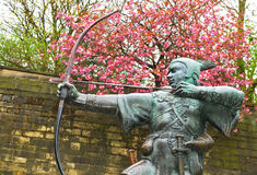 Robin Hood. Statue of Robin Hood in Nottingham, UK Royalty Free Stock Images