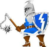 Knight with steel mace Royalty Free Stock Photo