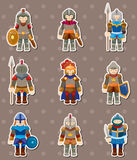 Knight stickers Royalty Free Stock Photo