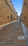 Knight Street of Rhodes. A view of rhodes knight street daytime royalty free stock photography