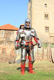 Knight on Svihov Castle Stock Photos