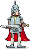 Knight with sword cartoon illustration Royalty Free Stock Photo