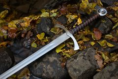 Knight sword Stock Images
