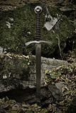 Knight sword stock photo