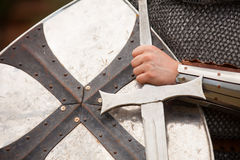 Knight with sword Stock Photo