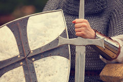 Knight with sword Stock Images
