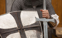 Knight with sword Royalty Free Stock Photos