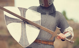 Knight with sword Stock Photos