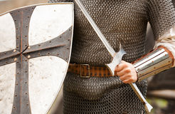 Knight with sword Royalty Free Stock Photography