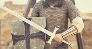 Knight with sword royalty free stock image