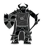 Knight with sword and shield detailed vector silhouette. Royalty Free Stock Photography
