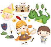 Knight and dragon Royalty Free Stock Image