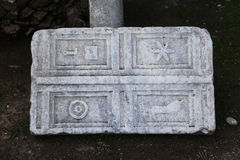 Knight Symbols in Bodrum Castle Stock Images