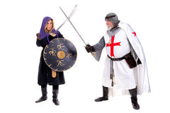 Knight Templar and Muslim Royalty Free Stock Photography