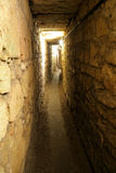 Knight templer tunnel jerusale Royalty Free Stock Images