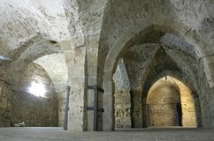 Knight templer tunnel jerusalem royalty free stock images
