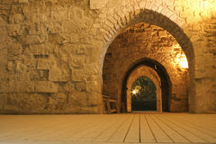 Knight templer tunnel jerusalem Royalty Free Stock Photo