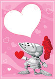 Knight valentines card Stock Photo