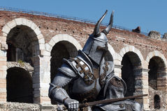 Knight in Verona by arena Royalty Free Stock Image