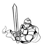 Knight Warrior Vector Illustration Stock Photography
