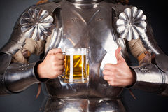 Knight wearing armor Royalty Free Stock Photography