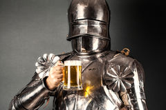 Knight wearing armor Stock Images