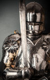 Knight wearing armor Royalty Free Stock Photo