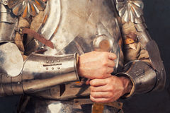 Knight wearing armor Stock Photos