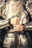 Knight wearing armor Royalty Free Stock Photos