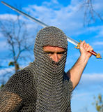 Knight wearing armour Stock Photo