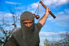Knight wearing armour Stock Photos
