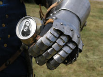 Knight With A Tin Stock Photo