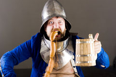 Knight With Beer Royalty Free Stock Photos