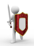 Knight With Sword On White Background