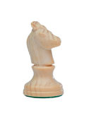 The knight. Wooden chess piece Royalty Free Stock Photography