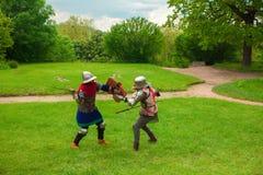 Knight's sword fight Stock Image