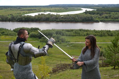 Knightly armor and weapon Royalty Free Stock Photos