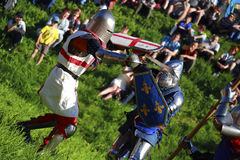 Knightly battle Stock Photo